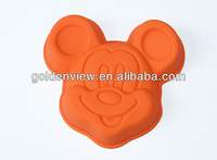 Mickey mouse animal shaped silicone cake pudding jelly baking pan mold mould bakeware
