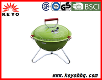 Hot sales weber style round and portable outdoor camping charcoal BBQ grill with strong package