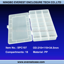 Ningbo Everest SPC107 China supplier transparent plastic storage case for stationery