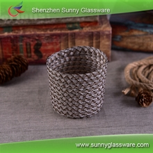 Grey twine candle holder sleeve