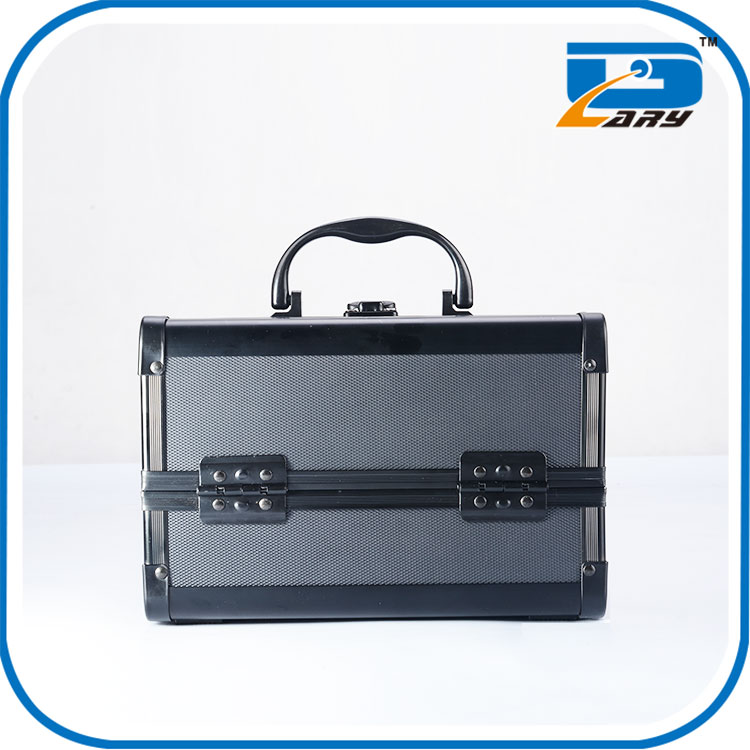 High quality popular train makeup case mirror lighted
