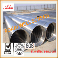 9 5/8 stainless steel 316 johnson pipe based wedge wire oil well filter for water well