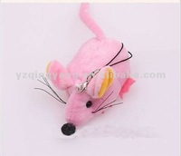 hot selling pink stuffed plush toy mouse keychain