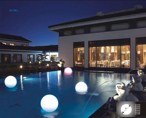 Light Ball Swimming Rechargeable Pool Floating Led Ball Shape Lightings Touch Wireless Charge
