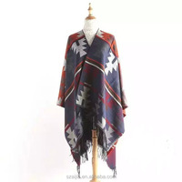 Fashion Jacquard ladies winter pashmina poncho scarf