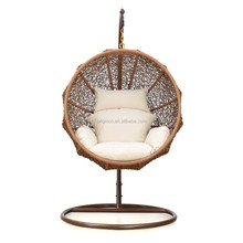Coconut shaped outdoor patio hanging basket summer rattan swing chair