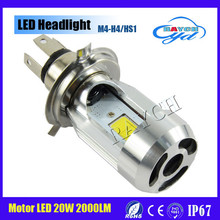 Newest 20W H4 H6 LED Headlamp light Bulb 2000LM Headlight Motorcycle bixenon Hi/Lo Beam Fit for Halley Kawasaki Suzuki Motorbike