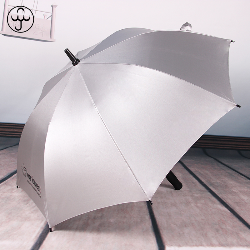 anti UV sun coating silver advert umbrella with custom logo