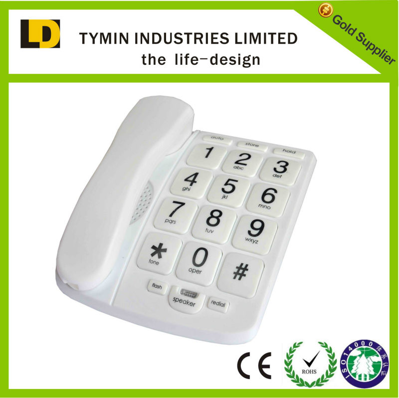 2015 hot sale model TM-PA023 corded big button telephone model