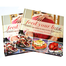 Hardcover full color cooking book printing service in China