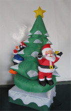 manufacture supply Christmas inflatable decoration, rotatable christmas tree