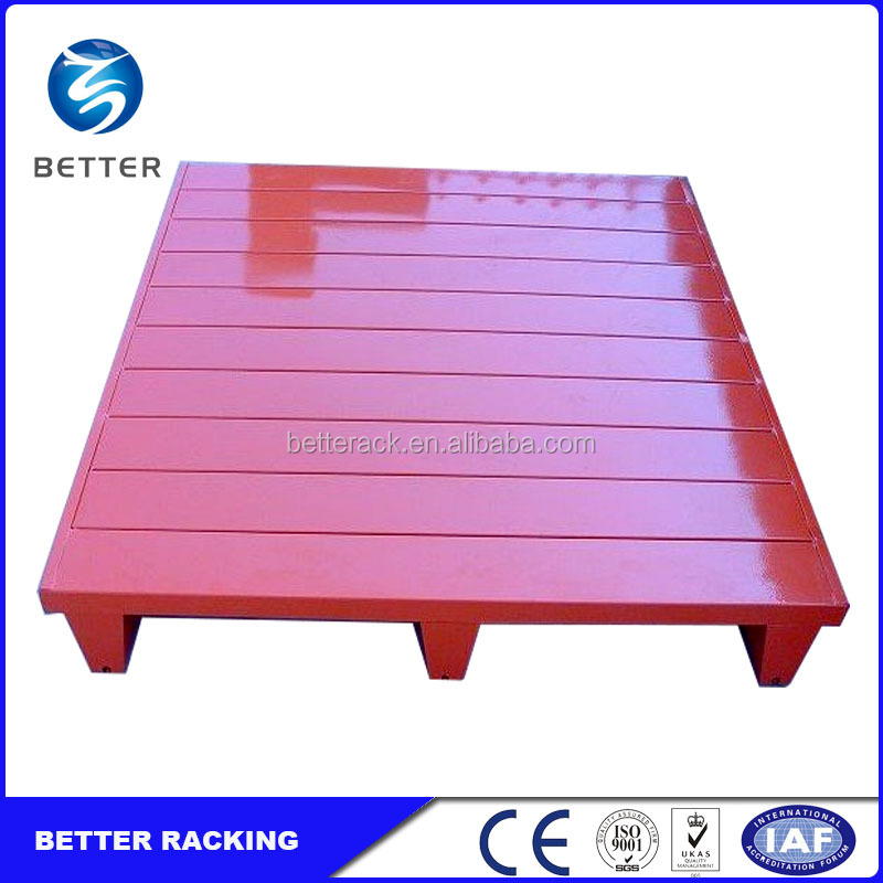 High Quality Warehouse Storage Heavy Duty Stackable Steel Pallets for Sale