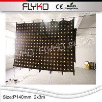 Flyko stage Hot selling p12cm 3X7m led video curtain play xx movies