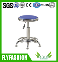 Gas lifting height adjustable lab stool