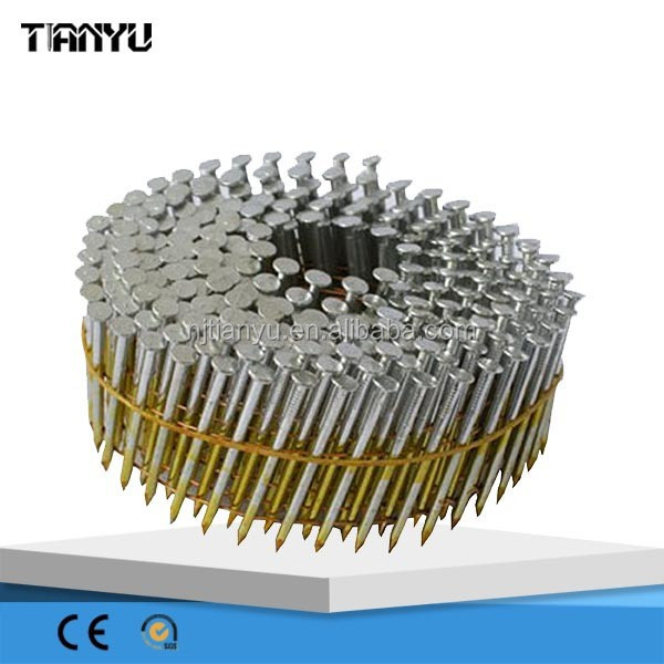 Best price manufacturer 2 1/4''x.099'' Wire pallet coil nails CLAVOS HELICOIDALES