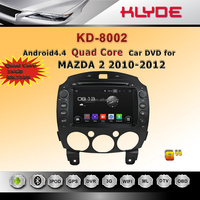 MAZDA 2 car navigation quad core 16g Android 4.4.4 built-in GPS BT steering wheel control DVD player radio AM