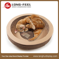 Long Feel factory handmade cat cage / cat boarding cardboard material cages / cat playing cardboard toy