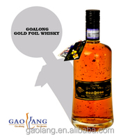 Goalong aged 15 years light golden yellow Golden foil whisky, whisky black bottle
