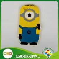 High level custom 3D logo multiple colour silicone mobile phone shell
