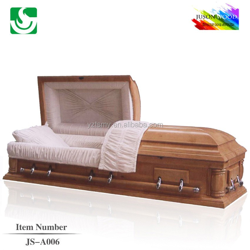 Funeral American style cremation hand carved wooden casket