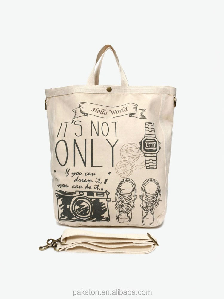 Printed Cotton canvas tote bag Canvas beach bag for women