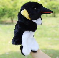 The crow shape Plush hand puppets Parent-child early childhood plush toys fluffy hand puppets