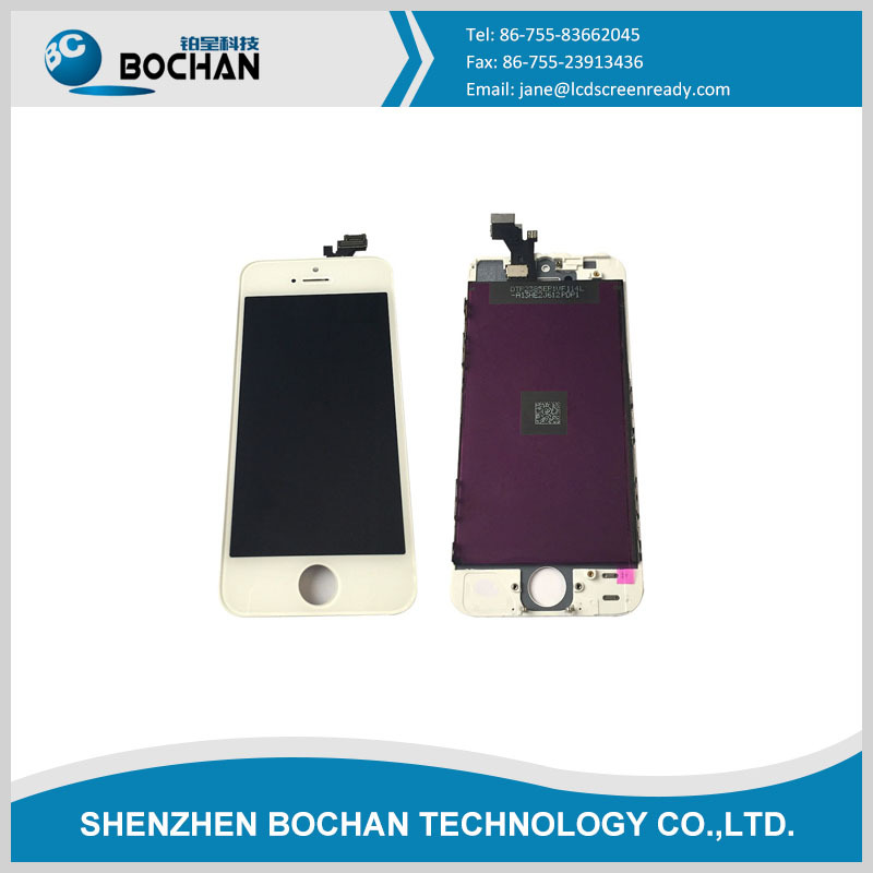 Wholesale front assembly lcd display + touch screen digitizer for iPhone 5 5G Black & white official color