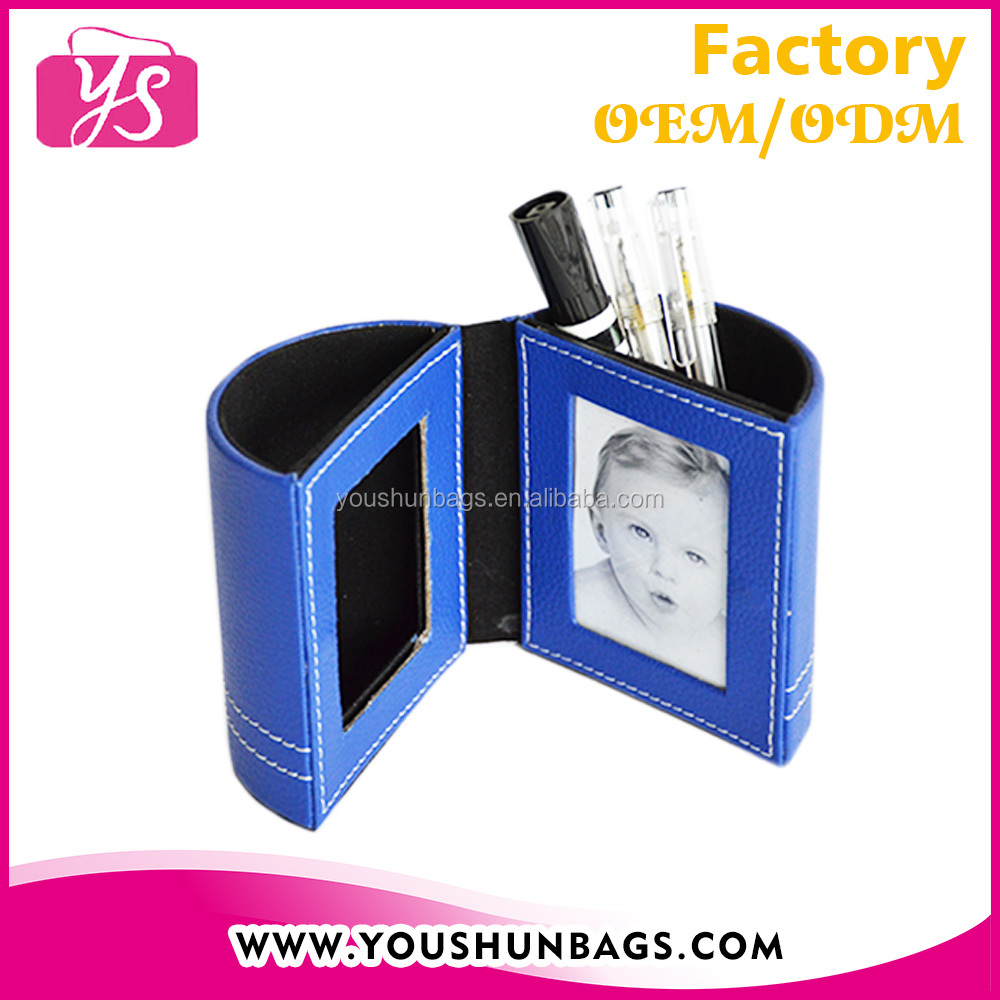 Leather Pen Holder With Photo Frame Wholesale
