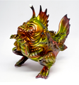 China OEM wholesaler make custom festival ABS hard plastic toy/customized golden sea monster figurines for gift