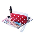 Women Makeup Organizer Pouches Tote Travel Printing martin PVC Cosmetic Bag