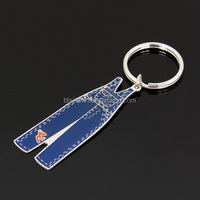 3D wholesales custom round metal keychain