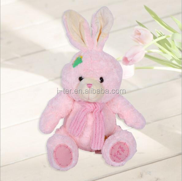 Top grade custom soft animal rabbit plush toy 500pcs for kids