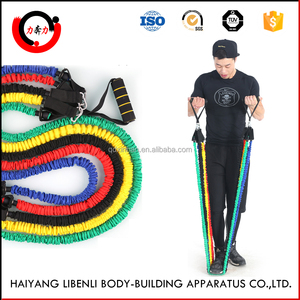 Safety Sleeve Covered Exercise Tube Resistance Bands with Foam Handles