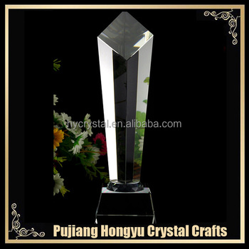 wholesale custom made crystal obelisk award