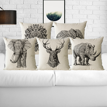 Polyester Animal Pattern printing Pillow Case Soft Pillowcase Decorative Pillows For Sofa Seat Cushion Cover 45x45cm Home Decor