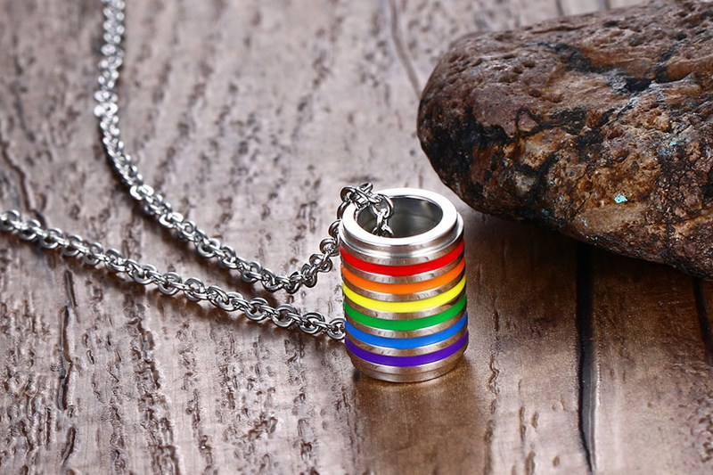 Gay pride rainbow necklace LGBT inspirational friendship necklaces