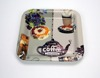 New Coffee Designs Square Food Grade Plastic Tray with Larger