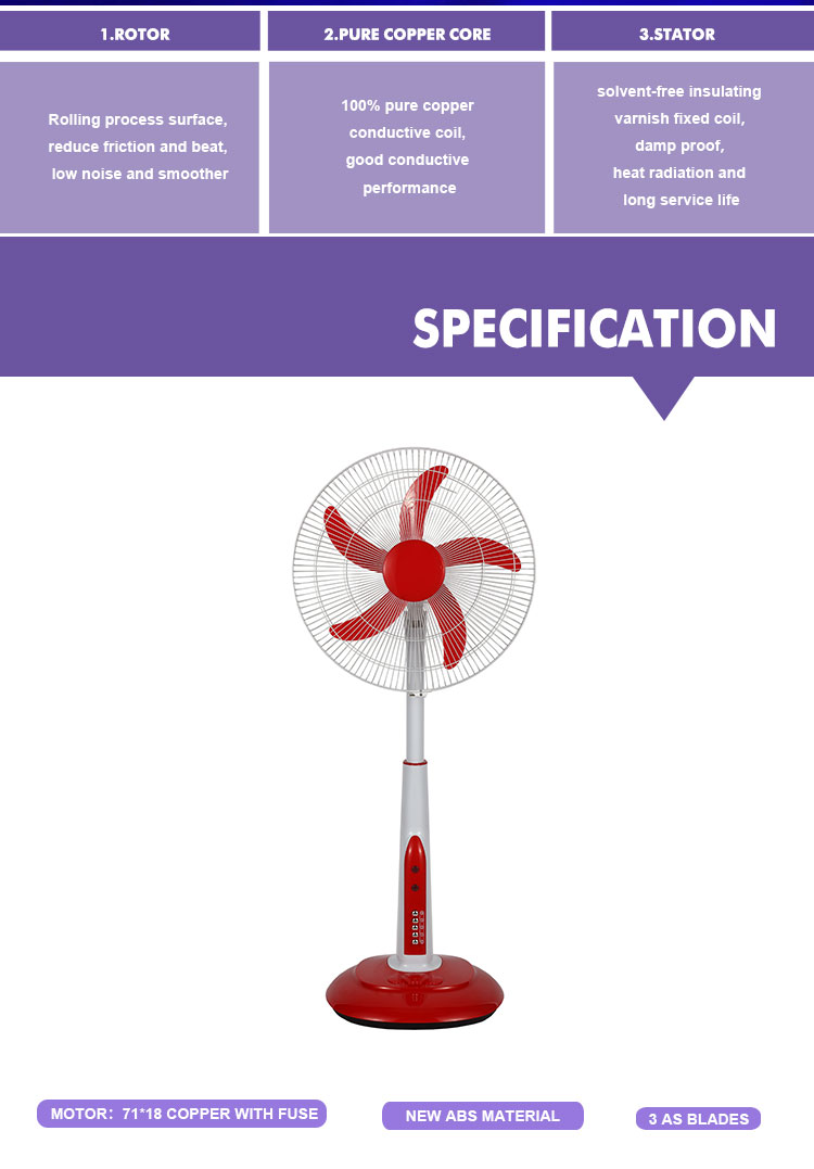 Brand new adjustable height dc rechargeable fans