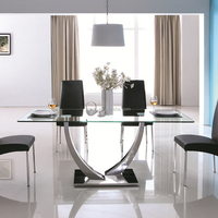 Hotsales tempered glass dining table