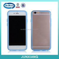 clear hard case with colorful tpu bumper cover for iphone 6