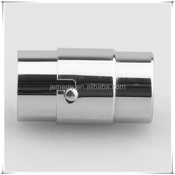 High Polish Fashion Snapped Magnetic Clasp Stainless Steel Magnet Hook Clasp for Leather Bracelet