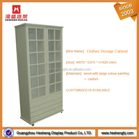 MDF wooden cabinet garment clothes clothing display case