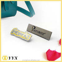 2014 metal logo badge zinc alloy nameplate for decoration customized label pin