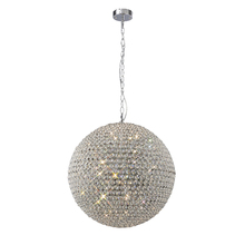 China wholesale modern led chrome design lamp globe ball chandelier crystal pendant lamp for Christmas party