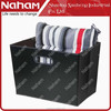Household Decorative Bolster PVC Leather Foldable Storage Tote Basket
