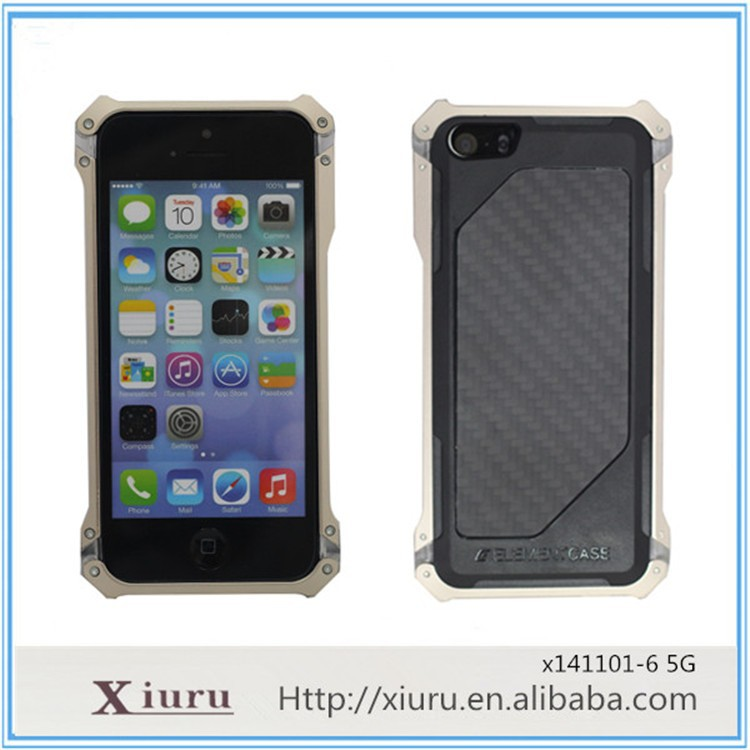 Metal Armour Frame Antiskid Mobile Phone Screen Protect Case Cover For Iphone 5 6