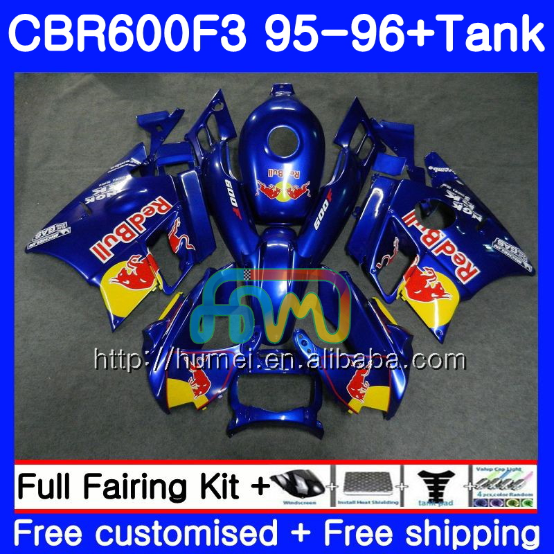 Body kit For HONDA CBR600RR F3 CBR 600F3 FS CBR600F3 13HM41 gloss blue CBR600FS CBR600 F3 95 96 CBR 600 F3 1995 1996 Fairing