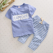 Europe design baby clothes set boy sports suit clothes wholesale