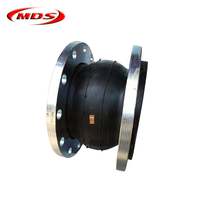 dn200 single sphere rubber flanged metal expansion joint