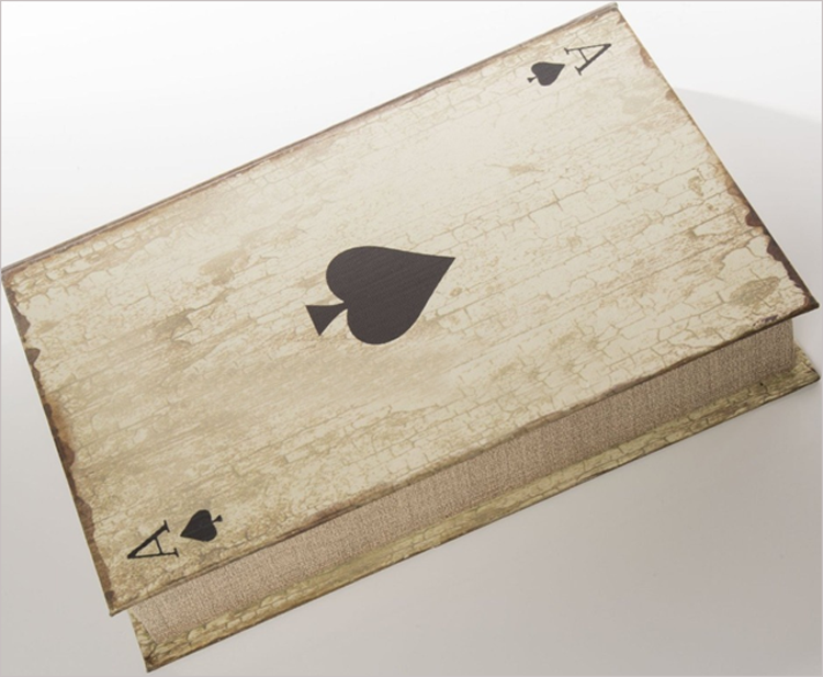SMB Group Play More Poker Box in Wooden Box- Cards, Playing Chips and Dice included